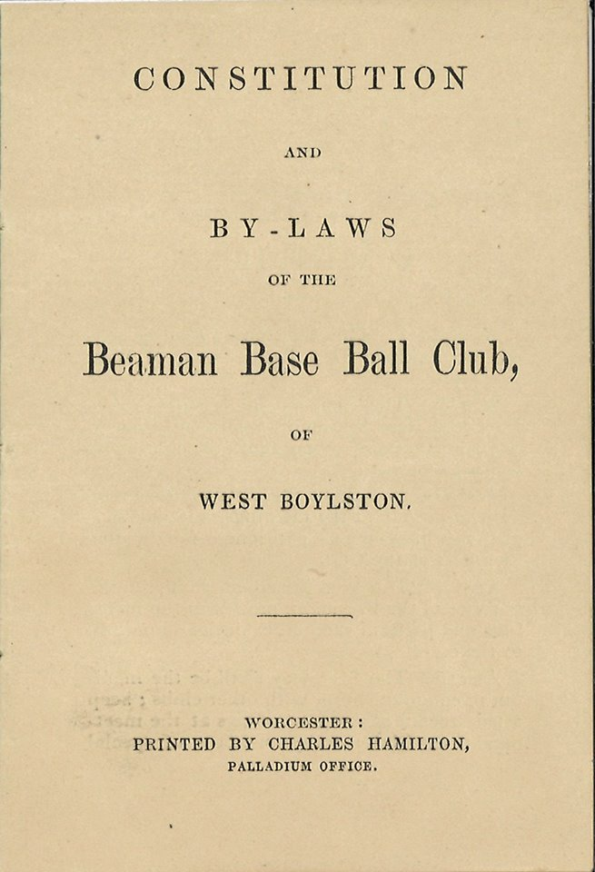 Cover of Baseball Program