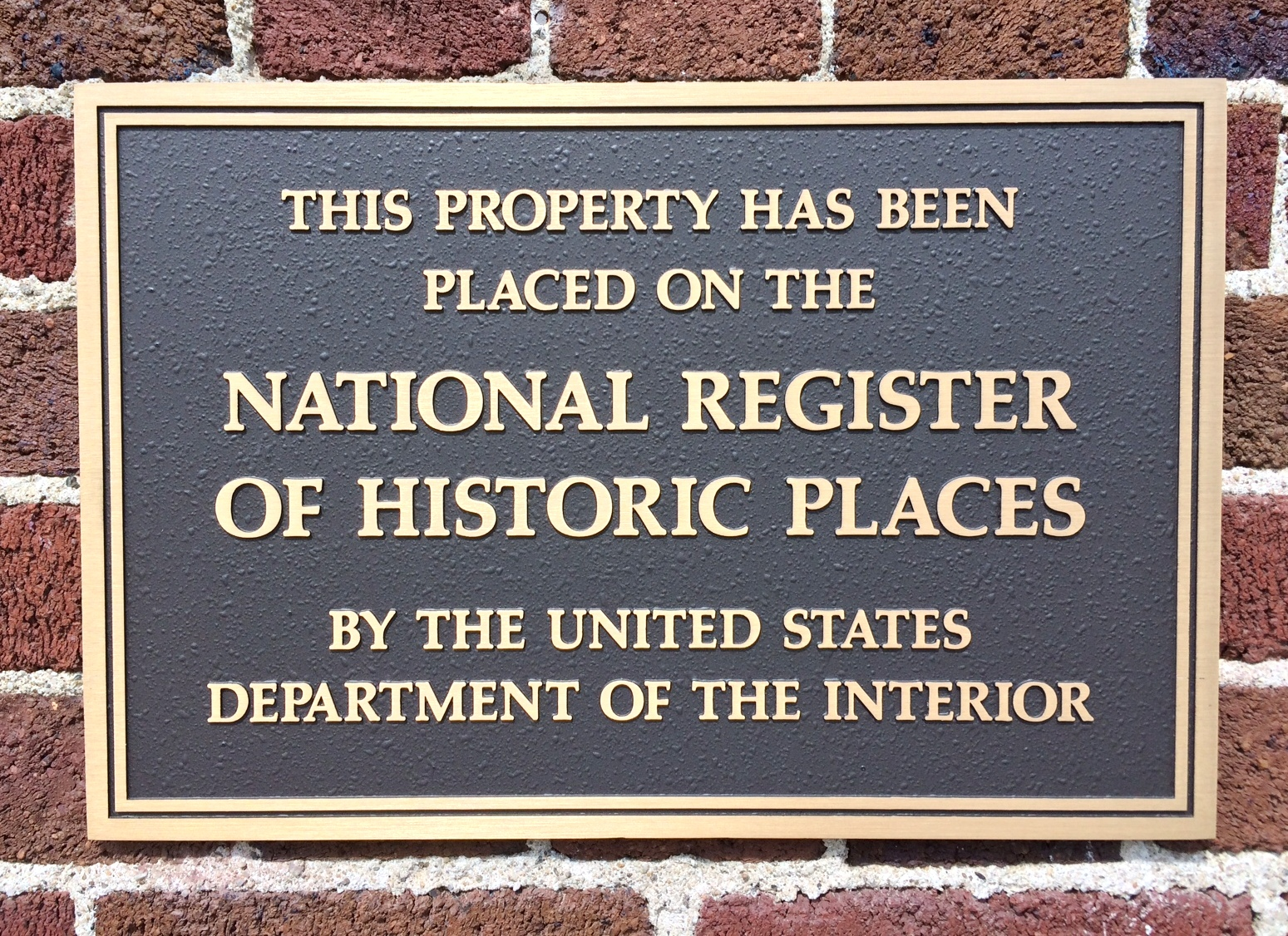 national registry plaque