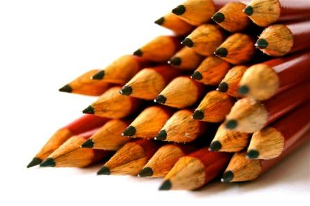 photograph of a set of pencils