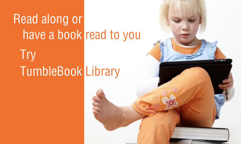 Image of child reading an ebook