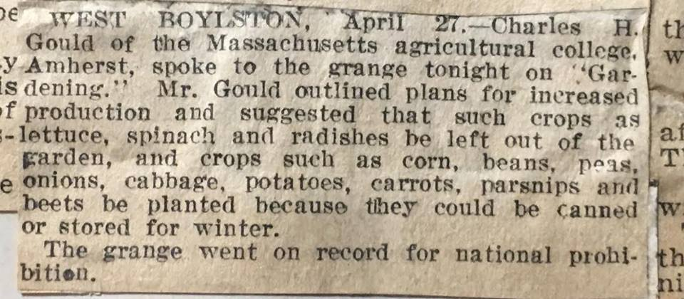 WartimeAgriculture, newspaper article