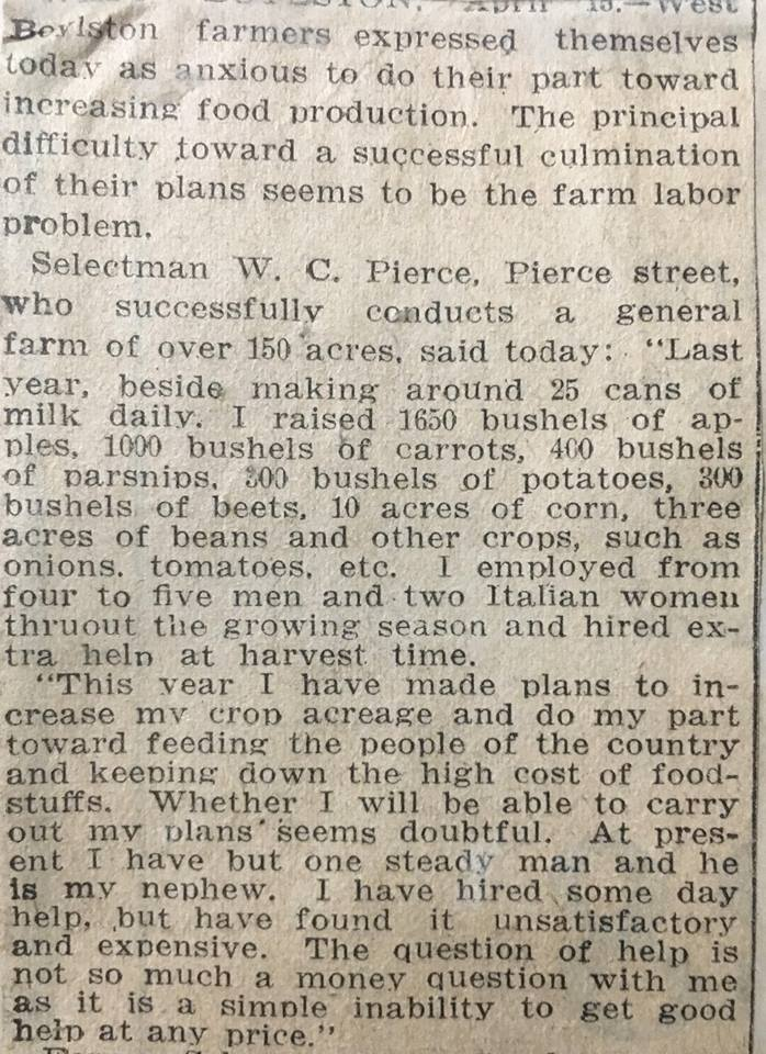 WartimeAgriculture news article