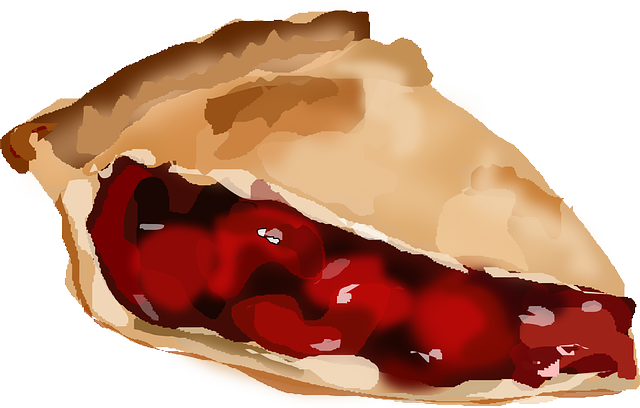 drawing of a piece of pie